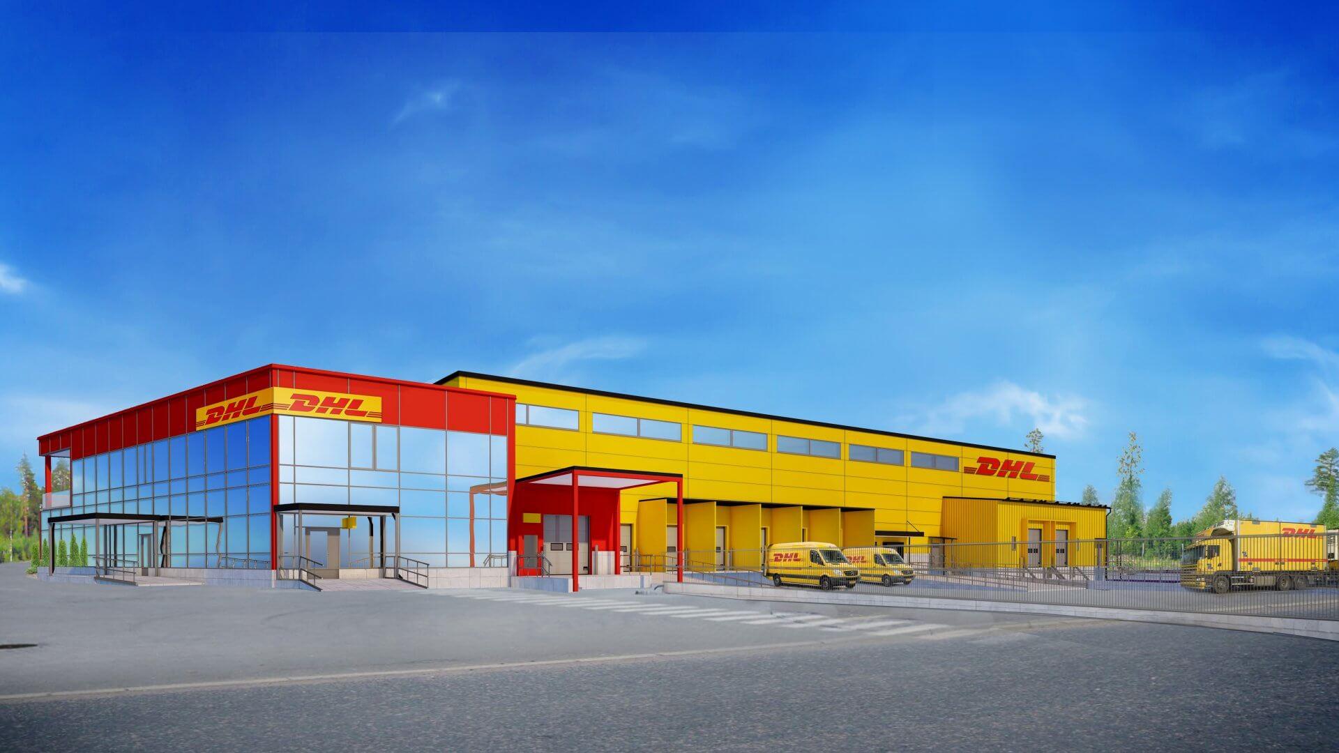 DHL jakelukeskus sekä toimistotilat
