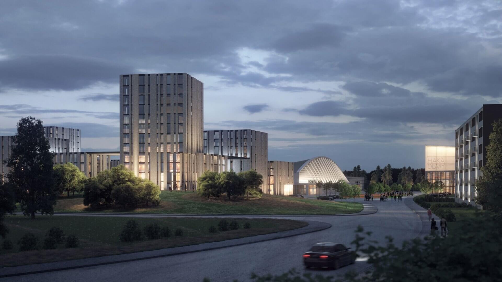 """Meijou osallistui Tampereen kaupungin järjestämään Hakametsän suunnittelukilpailuun, tuloksena palkintosijoille yltänyt """"Hakametsä Sport Campus -konsepti"""" 3"""