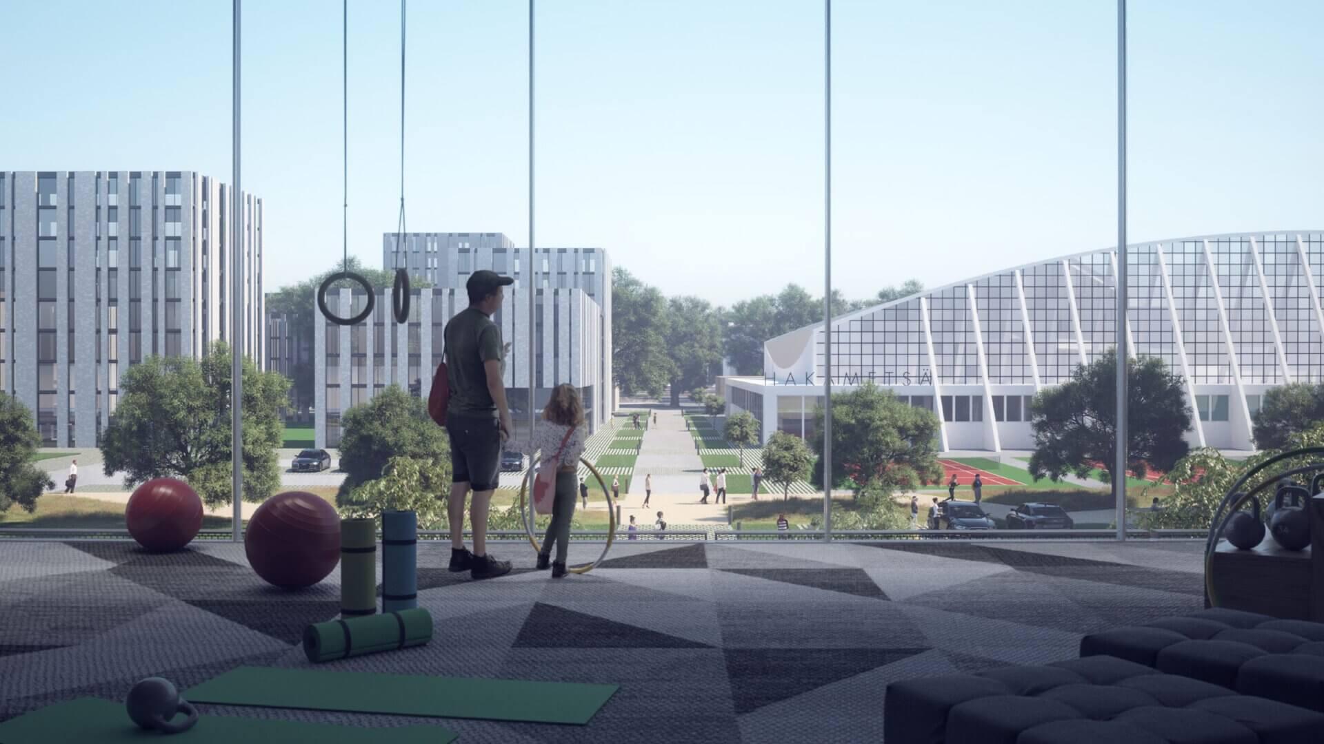 """Meijou osallistui Tampereen kaupungin järjestämään Hakametsän suunnittelukilpailuun, tuloksena palkintosijoille yltänyt """"Hakametsä Sport Campus -konsepti"""""""