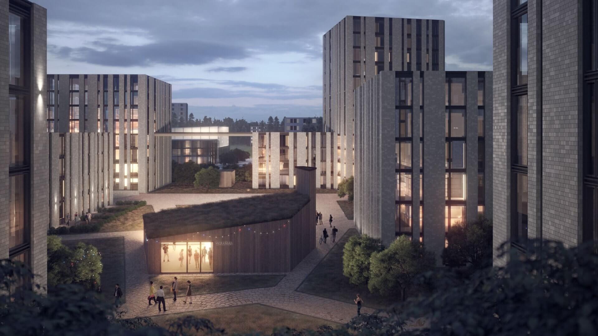 """Meijou osallistui Tampereen kaupungin järjestämään Hakametsän suunnittelukilpailuun, tuloksena palkintosijoille yltänyt """"Hakametsä Sport Campus -konsepti"""" 5"""